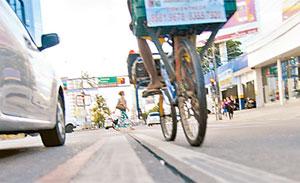 Por mais seguran�a para os ciclistas