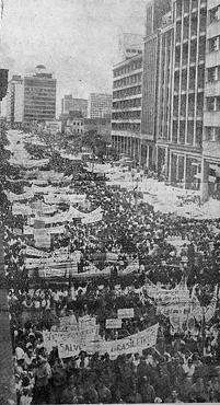 Em 1964, o Diario fez a cobertura da marcha, na Boa Vista (ARQUIVO/DP/D.A PRESS)