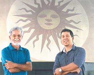 Antônio Carlos Pavão e Bruno Leite ressaltam valor das informações descobertas (Julio Jacobina/DP )