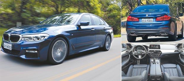 Duas opções fazem a sétima geração do Série 5: uma parte dos R$ 315 mil e a outra bate os R$ 400 mil. São muitos os dispositivos que permitem uma direção semiautônoma. Até bater os 200km/h, o sedã quase pode andar sozinho (fotos: BMW/Divulgacao)
