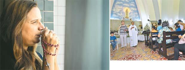 Ana Lúcia atribuiu a cura do câncer do filho a um milagre de Nossa Senhora de Fátima. Inaugurado em 8 de dezembro de 1935, o santuário do Recife abriu suas portas 18 anos antes do grande templo localizado na cidade portuguesa de Fátima, na Cova da Iria (Thalyta Tavares/Esp.DP | Roberto Ramos/DP)